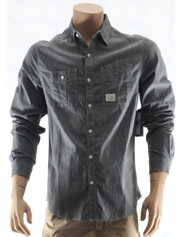 MARC ECKO CHEMISE FASHION LS CHAMBRAY